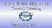City Council Meeting: June 13, 2012